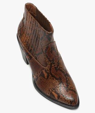 Boots femme style santiag à col élastiqué et bout pointu vue5 - Nikesneakers(URBAIN) - Nikesneakers