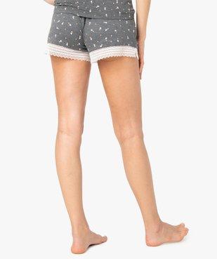 Short de pyjama femme en maille fluide avec bas en dentelle vue3 - Nikesneakers(HOMWR FEM) - Nikesneakers