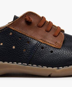 Derbies femme confort bicolores à lacets élastiques vue6 - Nikesneakers (CASUAL) - Nikesneakers