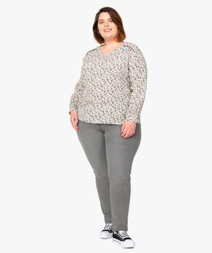 Jean femme extensible coupe Slim vue6 - GEMO (G TAILLE) - GEMO