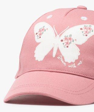 Casquette bébé fille motif papillon vue3 - GEMO(BEBE DEBT) - GEMO
