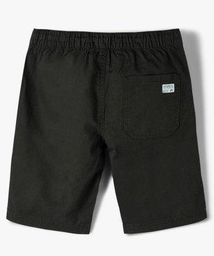 Bermuda garçon en toile avec poches surpiquées vue3 - GEMO (ENFANT) - GEMO