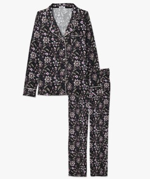Pyjama femme deux pièces : chemise et pantalon vue4 - GEMO(HOMWR FEM) - GEMO