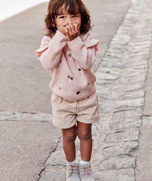 Short bébé fille en velours grosses côtes vue6 - GEMO(BEBE DEBT) - GEMO