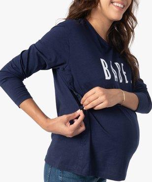 Tee-shirt de grossesse et d'allaitement à manches longues et inscription vue2 - Nikesneakers (MATER) - Nikesneakers