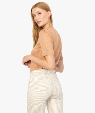 Top femme en maille à manches courtes fantaisie vue3 - Nikesneakers(FEMME PAP) - Nikesneakers