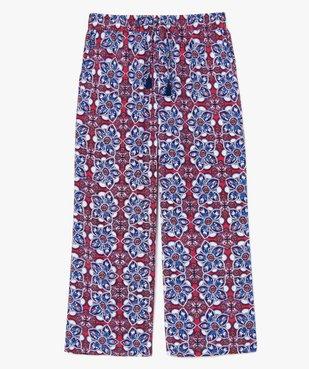 Pantalon femme à motifs fleuris coupe ample vue4 - GEMO (G TAILLE) - GEMO