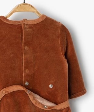 Pyjama bébé garçon en velours avec motif renard vue3 - GEMO(BB COUCHE) - GEMO
