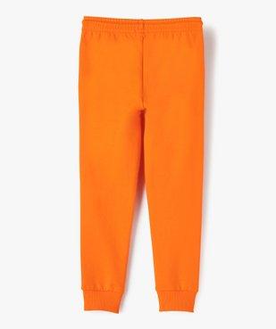 Pantalon de jogging garçon avec inscription sur la jambe vue3 - GEMO (ENFANT) - GEMO