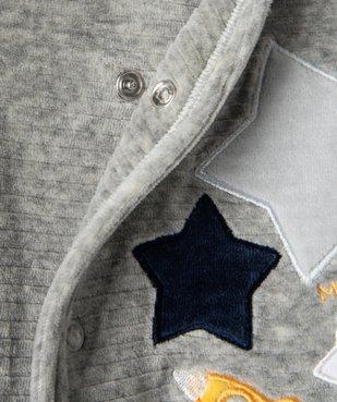 Pyjama bébé garçon avec motifs étoiles et fusée vue4 - GEMO(BB COUCHE) - GEMO