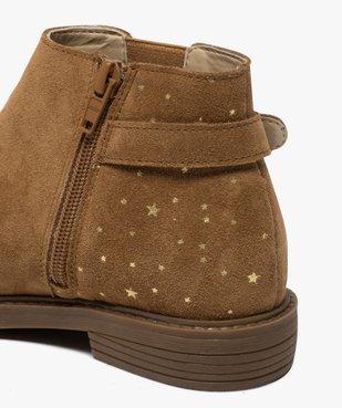 Boots fille style chelsea dessus cuir avec motif étoiles vue6 - GEMO (ENFANT) - GEMO