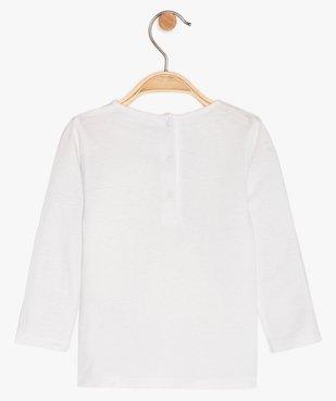 Tee-shirt bébé fille manches longues imprimé en coton bio vue2 - GEMO C4G BEBE - GEMO