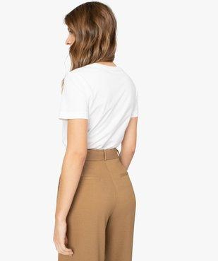 Tee-shirt femme à manches courtes pour le sport - Adidas vue3 - ADIDAS - GEMO