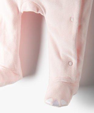 Pyjama bébé fille en velours à motif renard vue3 - GEMO C4G BEBE - GEMO