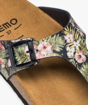 Sandales femme à entre-doigts imprimées de fleurs vue6 - GEMO (CASUAL) - GEMO