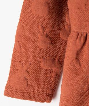Robe bébé fille ample à manches longues et motifs en relief vue3 - Nikesneakers(BEBE DEBT) - Nikesneakers