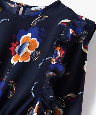 Robe fille imprimée à manches longues blousantes et volants vue2 - Nikesneakers (ENFANT) - Nikesneakers
