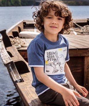 Tee-shirt garçon effet 2 en 1 avec large motif dinosaure vue5 - GEMO C4G GARCON - GEMO