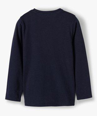 Tee-shirt garçon imprimé à manches longues vue4 - GEMO C4G GARCON - GEMO