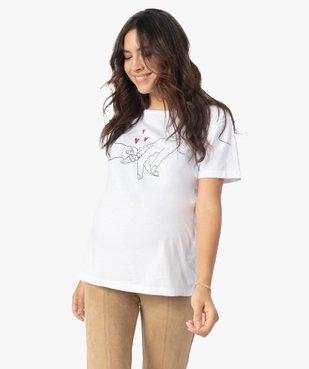 Tee-shirt de grossesse et d'allaitement à manches courtes et motif vue1 - Nikesneakers (MATER) - Nikesneakers