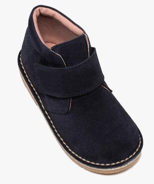 Boots enfant unis en cuir à fermeture scratch vue5 - GEMO (ENFANT) - GEMO