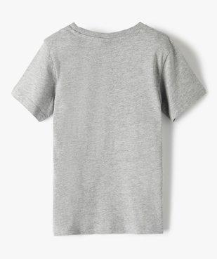 Tee-shirt garçon chiné à motif multicolore - Champion vue4 - CHAMPION USA - GEMO