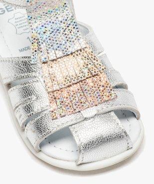 Sandales premiers pas bébé fille avec franges métallisées vue6 - Nikesneakers(BEBE DEBT) - Nikesneakers