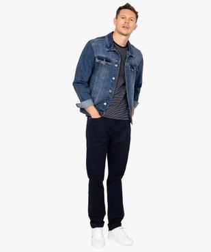Veste en jean homme délavé vue5 - Nikesneakers (HOMME) - Nikesneakers