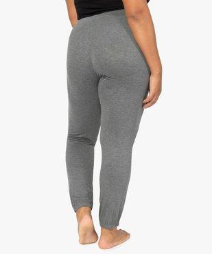 Pantalon de pyjama femme resserré dans le bas  vue3 - GEMO(HOMWR FEM) - GEMO