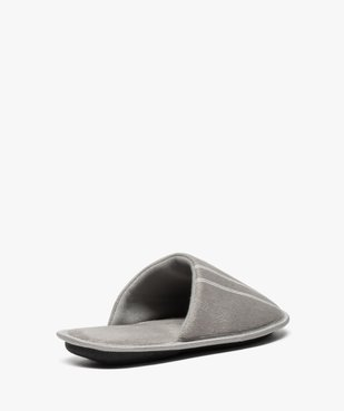 Chaussons homme forme mules velours avec liserés vue4 - Nikesneakers(HOMWR HOM) - Nikesneakers