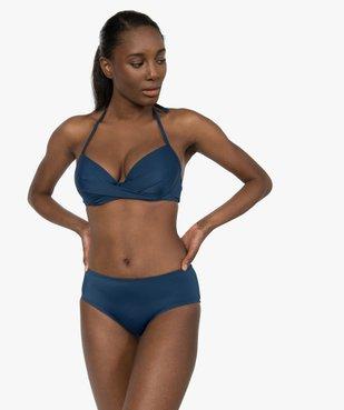 Haut de maillot de bain forme corbeille effet drapé vue3 - GEMO (PLAGE) - GEMO