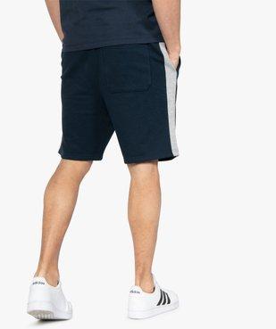 Bermuda homme en maille extensible avec bandes contrastantes vue3 - GEMO (HOMME) - GEMO