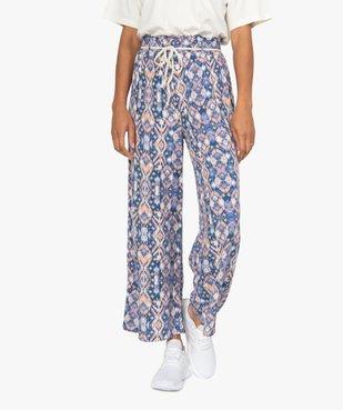 Pantalon femme ample et fluide à motifs vue1 - GEMO(FEMME PAP) - GEMO