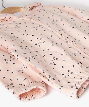 Sweat bébé fille à capuche et fermeture zippée vue2 - Nikesneakers(BEBE DEBT) - Nikesneakers
