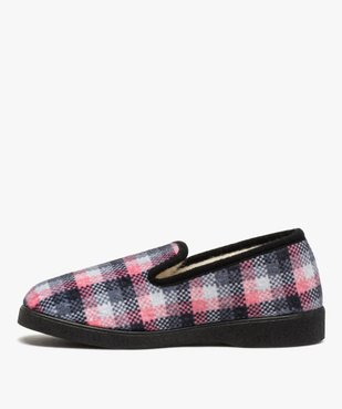 Chaussons femme style charentaises à carreaux vue3 - Nikesneakers(HOMWR FEM) - Nikesneakers