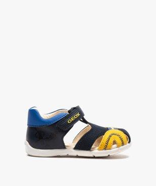 Sandales bébé garçon multicolores doublées cuir - Geox vue1 - GEOX - GEMO