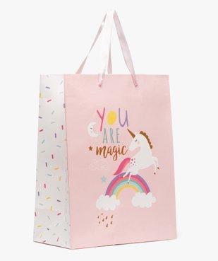 Sac cadeau enfant motif licorne et paillettes en papier recyclé vue1 - Nikesneakers C4G FILLE - Nikesneakers