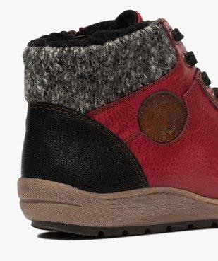 Boots femme à lacets et zip col en maille – Softrelax vue6 - SOFTRELAX - GEMO
