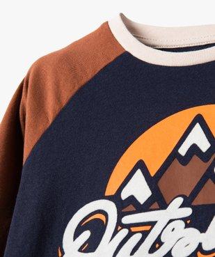 Tee-shirt garçon à manches longues multicolore à motif velours vue2 - Nikesneakers (ENFANT) - Nikesneakers