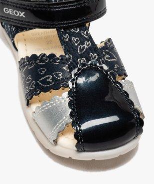 Sandales bébé fille à bout fermé et bride scratch - Geox vue6 - GEOX - GEMO