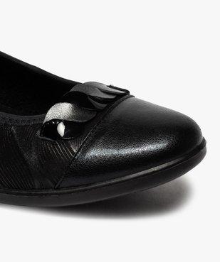 Ballerines femme extra souples en cuir détails vernis vue6 - GEMO(URBAIN) - GEMO