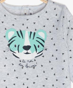 Pyjama bébé en jersey à motif tigre vue2 - GEMO(BB COUCHE) - GEMO