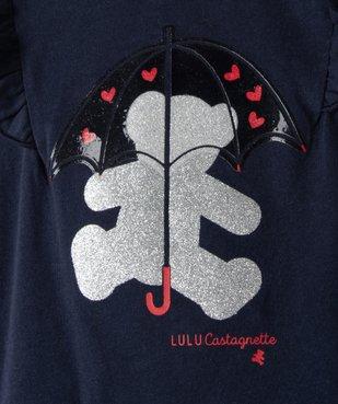 Tee-shirt bébé fille avec motifs pailleté – Lulu Castagnette vue2 - LULUCASTAGNETTE - Nikesneakers
