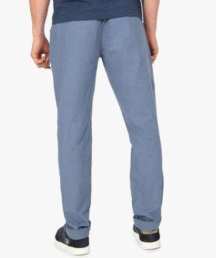 Pantalon homme coupe chino en lin et coton vue3 - GEMO (HOMME) - GEMO