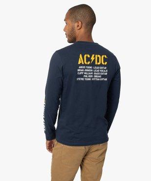Tee-shirt homme avec motif ACDC à manches longues vue3 - ACDC - GEMO