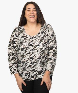 Blouse femme imprimée avec zip fantaisie sur les épaules vue1 - Nikesneakers (G TAILLE) - Nikesneakers