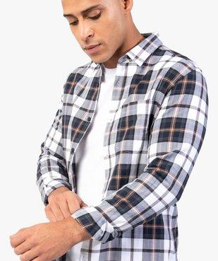 Chemise homme à carreaux coupe slim vue2 - GEMO (HOMME) - GEMO