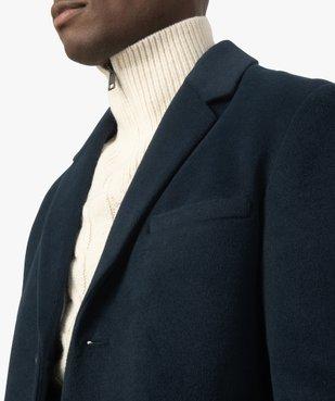 Manteau court homme effet drap de laine vue2 - GEMO (HOMME) - GEMO