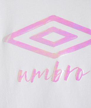 Tee-shirt fille avec large logo brillant - Umbro vue2 - UMBRO - Nikesneakers