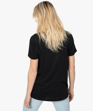 Tee-shirt femme à manches courtes avec dos plus long vue3 - GEMO(FEMME PAP) - GEMO